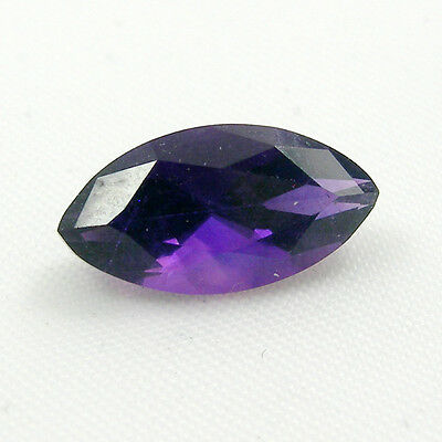 Marquise Faceted Cut Natural Amethyst Loose Gemstone - Light to Dark Purple