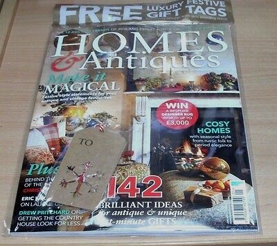 Homes & Antiques magazine JAN 2017 Rustic Folk to Period Elegance + Gift Tags