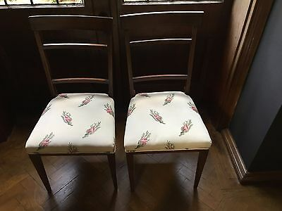 Edwardian Chairs - with Osborne Little fabric -  Excellent condition