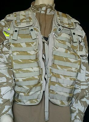 British Army VEST Tactical Load Carrying Molle Assault GENUINE ISSUE DESERT DPM