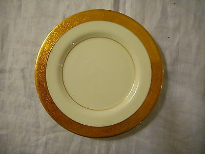 Bone China Bread Plate by Mikasa, Harrow (#A1-129), Gold Encrusted Band