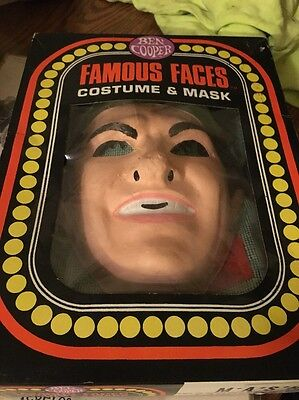 Vintage Famous Faces Costume N Mask By Ben Cooper