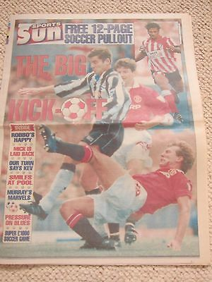 Sun Sports 12 Page Soccer Pullout - 7th August 1994