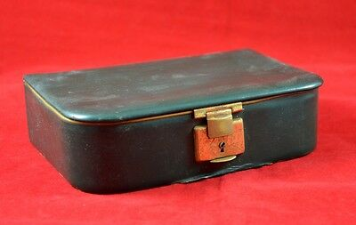 German Wwii Wehrmacht Nco Leather Case For Shaving Set Rare War Relic
