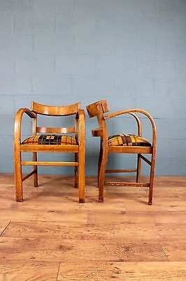 Pair of 1930s oak bentwood chairs (100354)