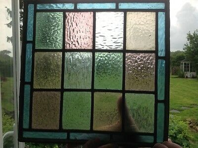 Vintage, stained glass panel, window, 325 x 335mm, KENT