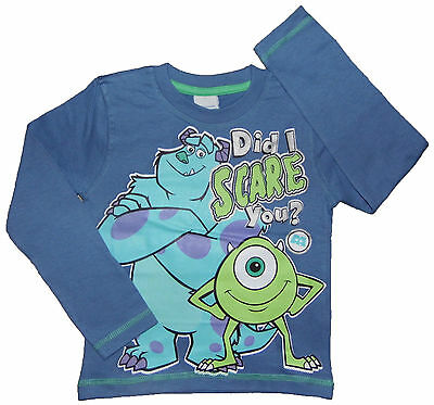 BRAND NEW MONSTERS INC. 'DID I SCARE YOU' LONG SLEEVED TOP 2-3 up to 9-10 YEARS
