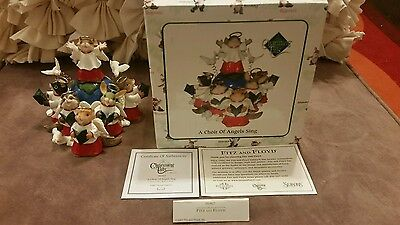 Fitz and Floyd Charming Tails Limited Edition signed  A CHOIR OF ANGELS SING