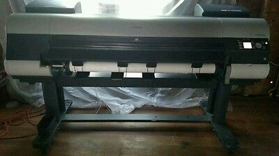 Canon ipf 8100 plotter wide format printer  12 colors .new print heads