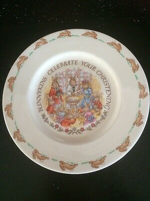 Royal Doulton Bunnykins  Christening Plate 1936 Fine Bone China Nice Condition
