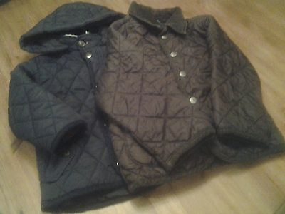 Baby boys Zara and Benetton quilted jackets age 18-24months