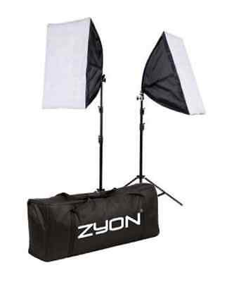 2 x Continuous Lighting Kit 50x70cm Softbox Soft Box Photo Studio Set Light #129