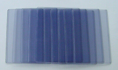 "10 Rigid Plastic Postcard Sleeves 5¾"" x 3¾""  (Opens on the short side)"