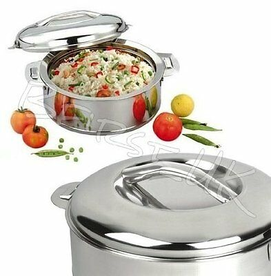 Double Wall Stainless Steel Insulated Hot Pot Food Warmer Serving Dish Lided 1.5