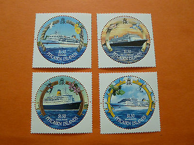 """Pitcairn Island 2001 SG587/90  """"Cruise Ships""""  (Set of 4)  Unmounted Mint"""