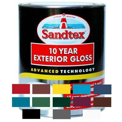 Sandtex 10 year Exterior Wood & Metal Gloss Paint 750ml - 13 Colours Available