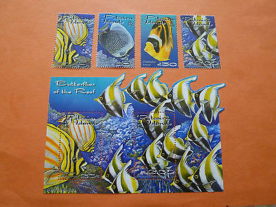 """Pitcairn Island 2001 SG600/MS604  """"Reef Fish""""  (Set of 5)  Unmounted Mint"""