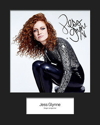 JESS GLYNNE #2 10x8 SIGNED Mounted Photo Print - FREE DELIVERY