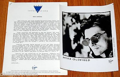 MIKE OLDFIELD Earth Moving 1990 Photo Press Kit Tubular Bells