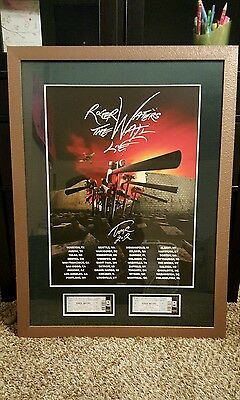 """2012 ROGER WATERS - PINK FLOYD """"THE WALL LIVE"""" Framed Concert Tour Poster"""
