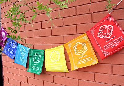 Chakra Tibetan Prayer Flags from the Land of Buddha, Nepal