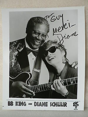 DIANE SCHUUR Singer Original Hand Signed Autograph 8 x 10 Photo with BB KING