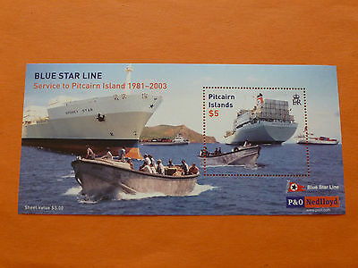 """Pitcairn Island 2003 SG MS636 """"Blue Star Line Service"""" Unmounted Mint"""