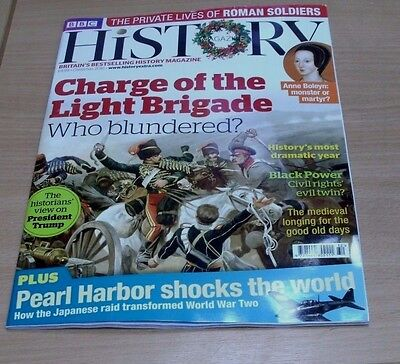 BBC History magazine CHRISTMAS 2016 Charge of the Light Brigade, Pearl Harbour &