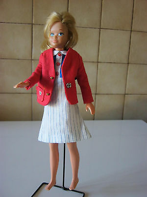 vintage  tenue veste school girl  +  robe    poupée skipper  barbie  doll