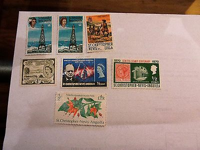 Job Lot Collection Old St Christopher Nevis Anguilla Stamps