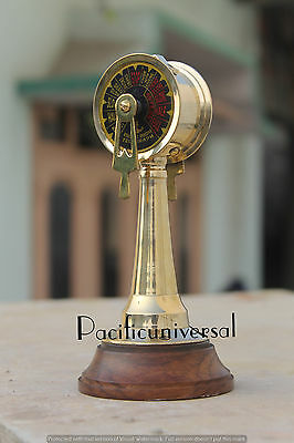 """Handmade Vintage Marine Telegraph 7"""" With Wooden Base Collectible Christmas Gift"""