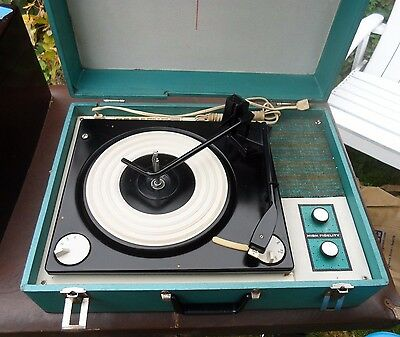 Vintage Record Player Airline High Fidelity 4 Speed