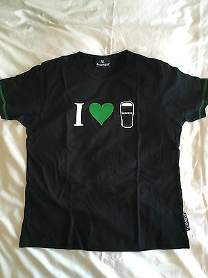 Genuine Ladies I Love (Heart) Guinness St Patrick's Day 2007 T-Shirt BNWT NEW