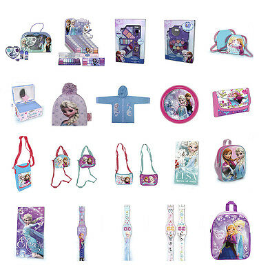 NEW WITH TAGS Girls FROZEN Make-Up Bag Towel Watch Hat Raincoat Clock *FREE P&P*