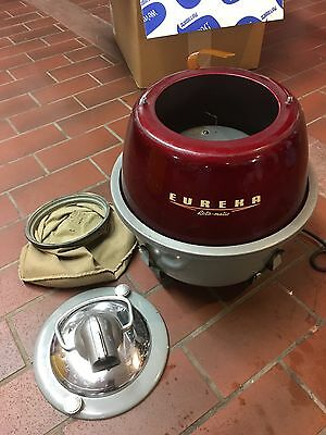 Vintage Circa 1956 Eureka Roto-Matic 805 Cannister Vacuum With Crate