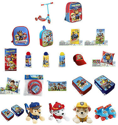 New PAW PATROL Kids Bag Cap Towel Scooter Cushion Bottle Pencil Case Plush GREAT