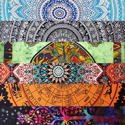 Vintage Indian Wall Hanging Mandala Tapestry Ombre Hippie Bedspread Throw