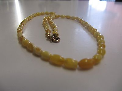 Vintage Baltic Sea Amber Beads  Necklace  4.45 grams  Egg Yolk