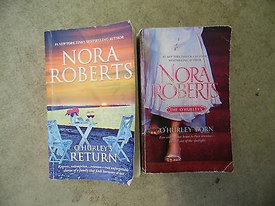 Lot of 2 Nora Roberts O'Hurley's Romance Paperback Books