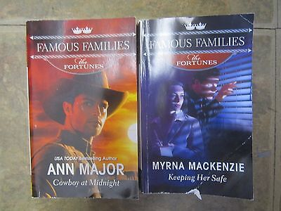 Lot of 2 Famous Families The Fortunes Harlequin Series Romance Paperback Books