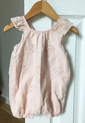 BABY GAP Girl Romper One-piece Eyelet Size 0-3 M - Pink