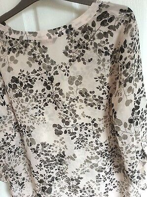New pale pink and black floral ladies blouson. size 16