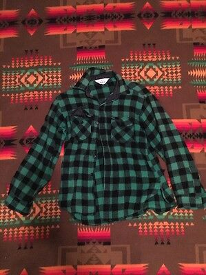 Vintage Men's Woolrich Buffalo Plaid Green Shirt Jacket M