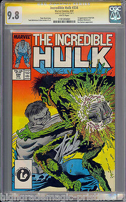 INCREDIBLE HULK #334 CGC 9.8 SS STAN LEE  HIGHEST GRADED CGC #1191283001 mms