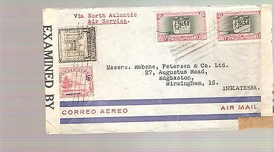 GUATEMALA  1940 Airmail cover    various stamps  CENSORED  .....4