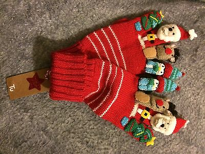 Kids Christmas Gloves Size 7-10  Years 54cm