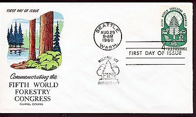 US 1960 Forestry Congress (1156) . FLUEGEL First Day Cover