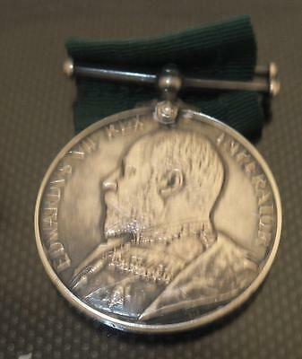 Edwardian Long Service Volunteer Force Medal to a Colour Sjt in VB Leic Reg..