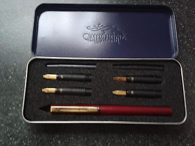 Vintage Platignum Calligraphy Fountain Pen Boxed and Complete, VGC