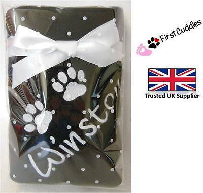 Personalised Embroidered Cat Blanket With Your Cats Name Lots Of Colours